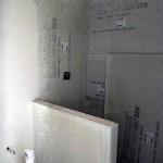 basement bathroom tiled shower