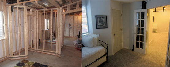 Nice Before And After U2013 The Basement Spare Bedroom