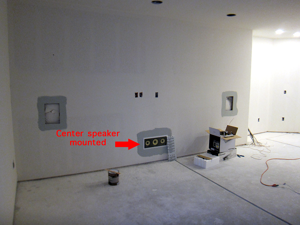 In Wall Home Theater Systems finish basement home theater - before and after pictures