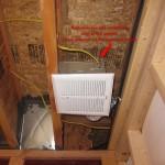 basement bathroom ideas, exhaust fan