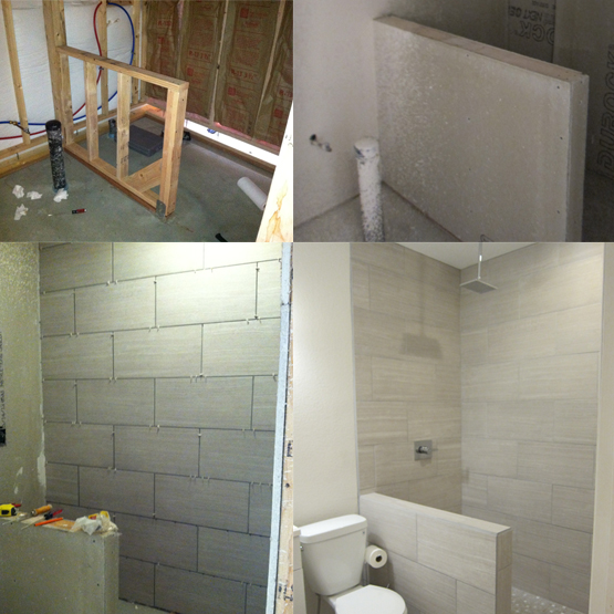 How to finish a basement bathroom pex plumbing for Finished bathroom ideas