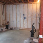 finishing a basement workout area