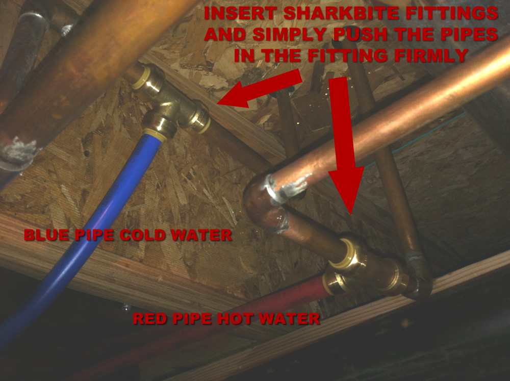 How to finish a basement bathroom pex plumbing for Pex vs copper main water line