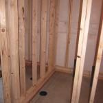 framing a basement bathroom floating walls