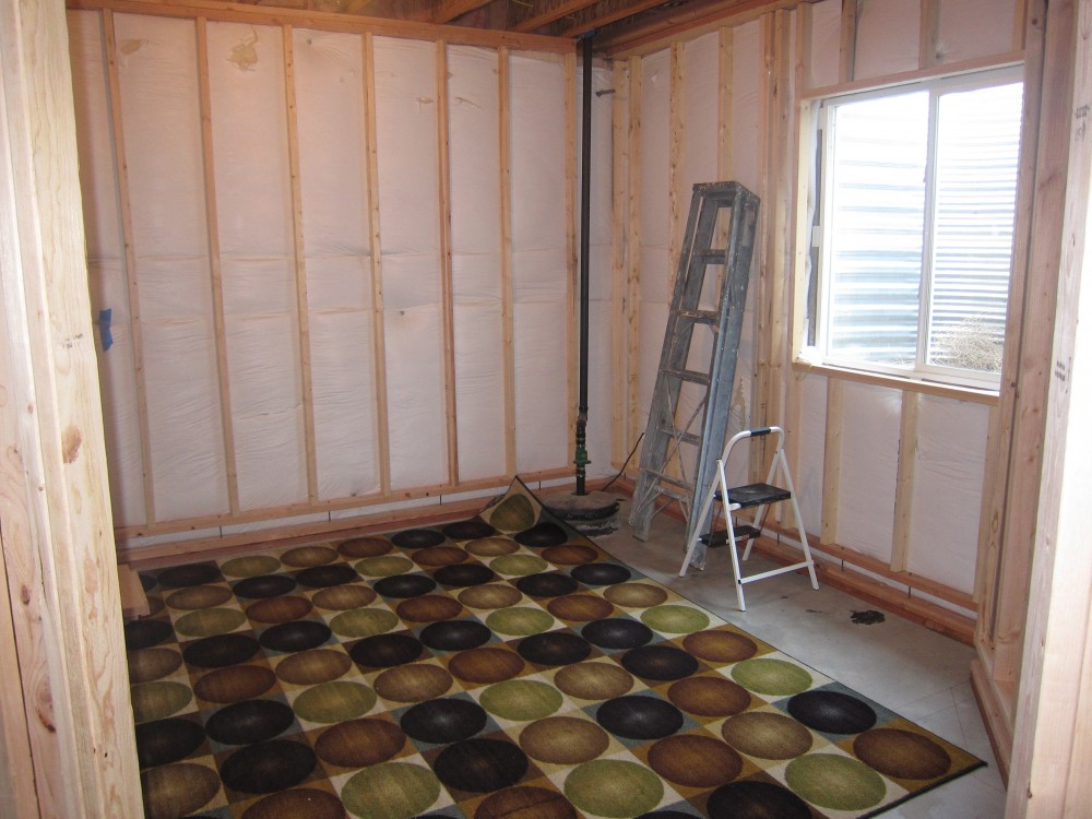 Framing Basement Walls Finishing : Before and after pictures finishing a basement bedroom