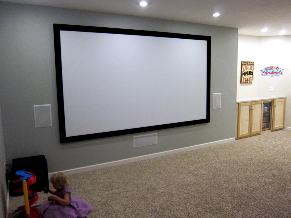 Finish Basement Home Theater Before And After Pictures