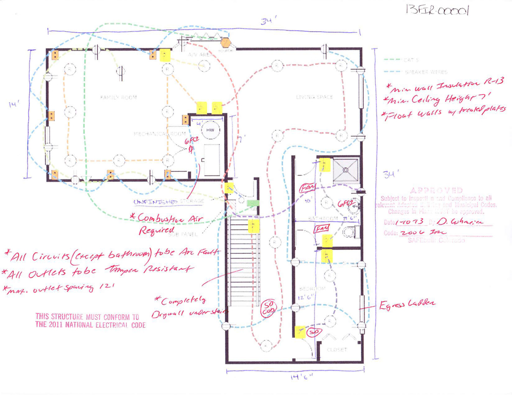 Tonyu0027s Basement Design and Layout Plan  sc 1 st  How To Finish My Basement & Basement Finishing Plans - Basement Layout Design Ideas - DIY Basement
