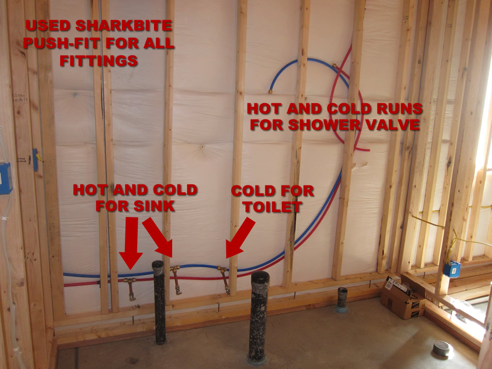 basement bathroom plumbing. PEX in the Basement Bathroom How to Finish a  Plumbing