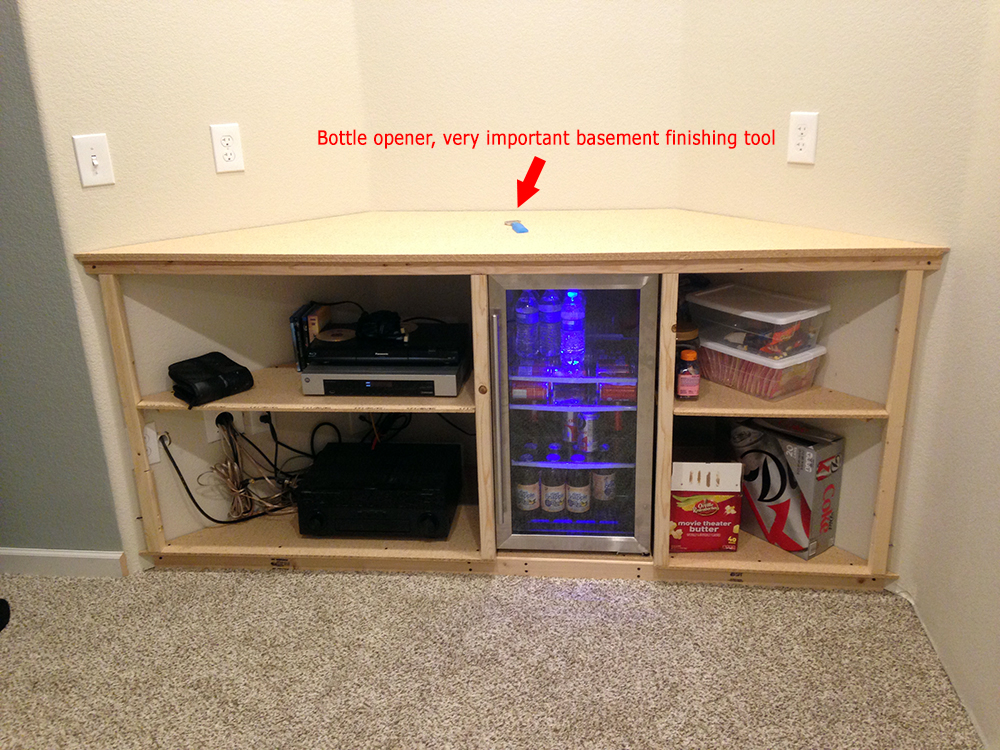 Basement Home Theater Media Bay Cabinets