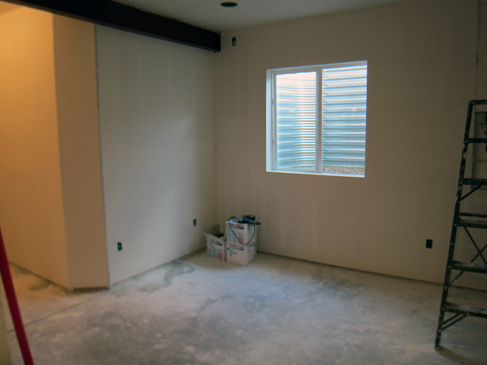 basement wall ideas not drywall. before and after basement finishing pictures Finish a Basement Workout Area  Before After Pictures