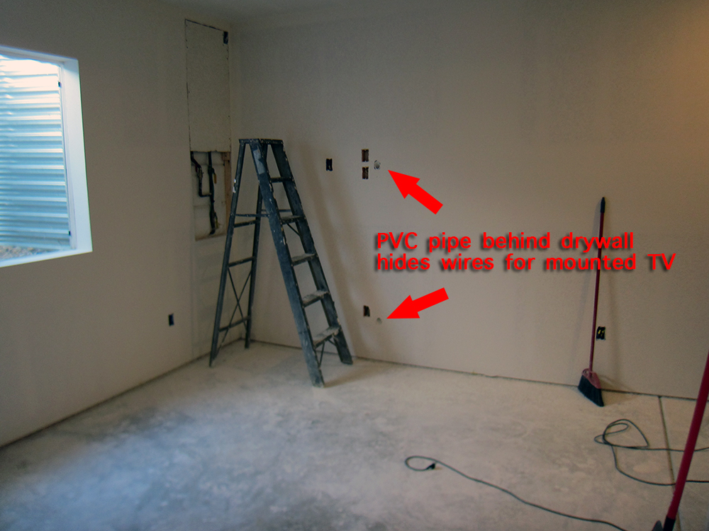 finish a basement workout area before and after pictures rh howtofinishmybasement com Basement Wiring Plan Wiring Basement Wall