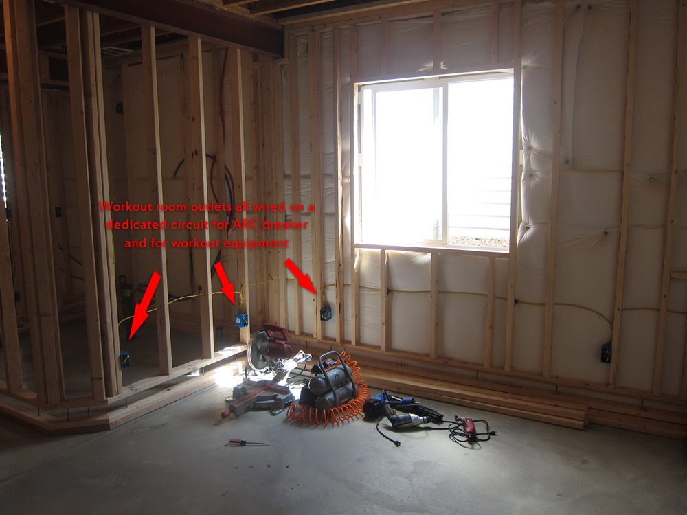 basement workout room electrical & Finish a Basement Workout Area - Before and After Pictures