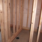 framing a basement bathroom floating walls
