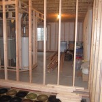 framing a basement bedroom floating walls